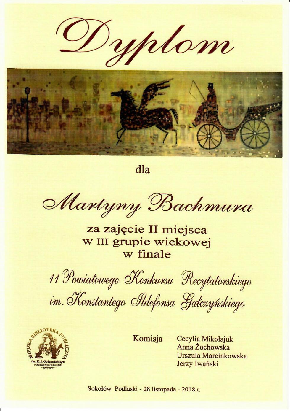 dyplom M. Bachmura