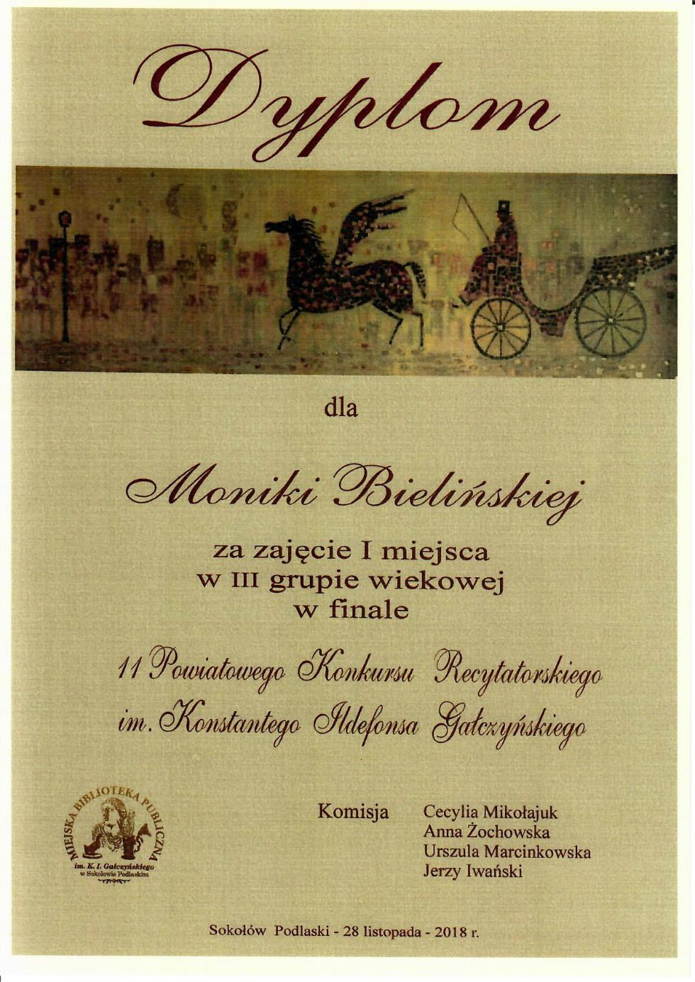 dyplom M. Bielińska